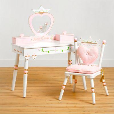 Wildkin Princess Vanity Table Chair Set In White Kids Vanity Kids Vanity Set Vanity Set With Mirror