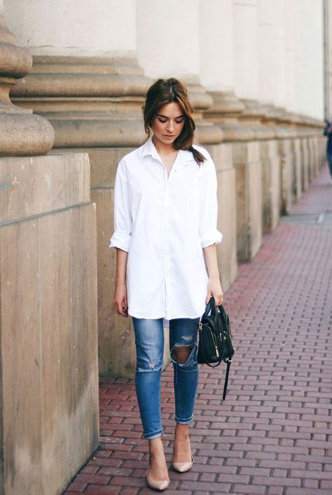 48995f4f38 10 Fresh Ways to Wear The A White Shirt