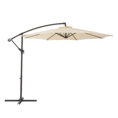 Brayden Studio Freda 9 5 Cantilever Umbrella Fabric Colour Warm