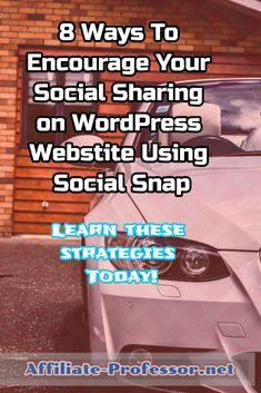 Learn the 8 ways that you can share your post using social snap... #Blogging for beginners #Blogging #Socialmedia Marketing