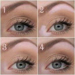Light makeup for small eyes