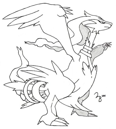 How To Draw Pokemon Reshiram Pokemon Coloring Pages Pokemon