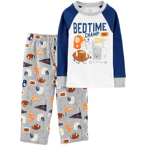 Carters Boys Size 3T Football Champ Fleece Footed Pajama Sleeper