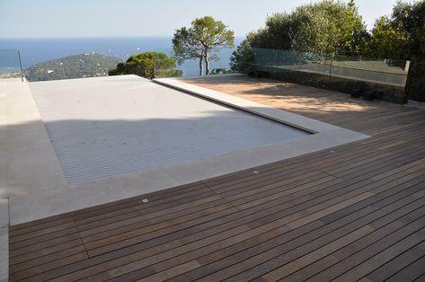 Zwembad Op Dakterras : Dakterras van ipe lapacho buiten parket met zwembad in nice