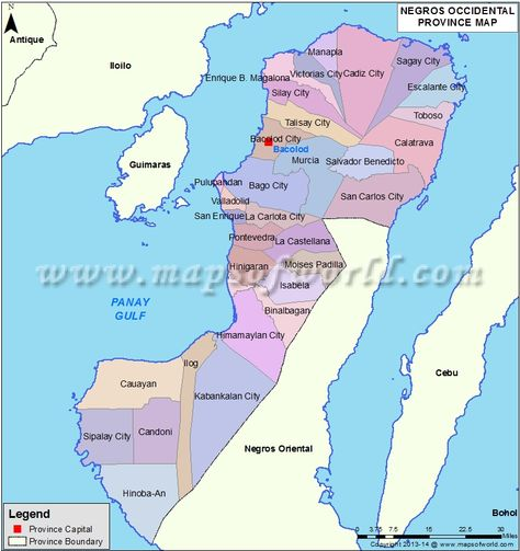 Negros Occidental Map Missionary Pinterest Philippines - Bacolod map