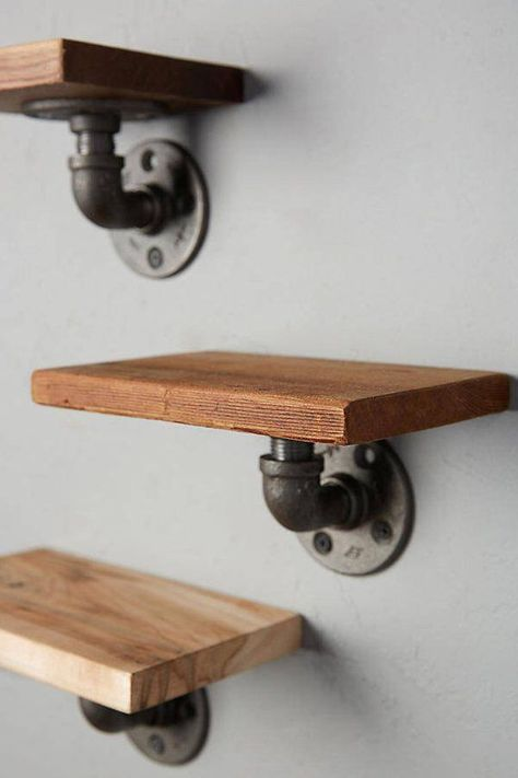 Excited to share the latest addition to my shop: 3 Piece Industrial Pipe S. - Excited to share the latest addition to my shop: 3 Piece Industrial Pipe Shelves - Industrial Furniture, Industrial House, Diy Furniture, Wooden Pallet Projects, Diy Shelves, Industrial Shelving, Industrial Interiors, Vintage Industrial Furniture, Industrial Home Design
