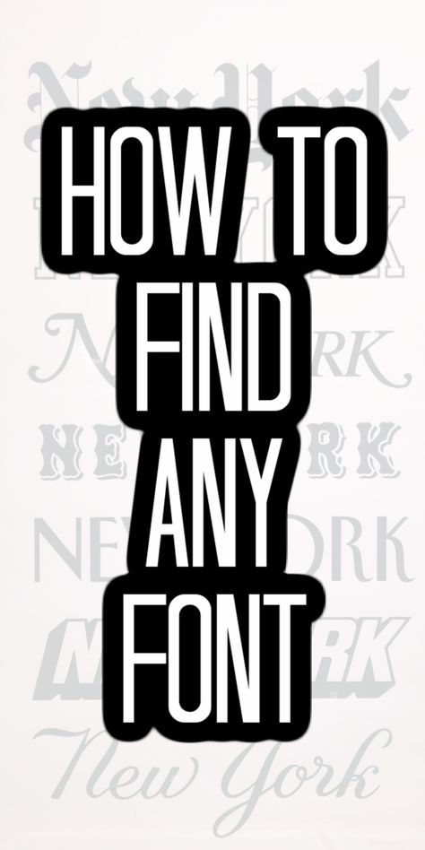 Grab any image and find the font associated with it with our tips and tricks! We are covering the best website to find any font! #fonts #graphicdesign Inkscape Tutorials, Cricut Tutorials, Cricut Ideas, Font Finder, Do It Yourself Inspiration, Cricut Craft Room, Cricut Fonts, Affinity Designer, 3d Laser