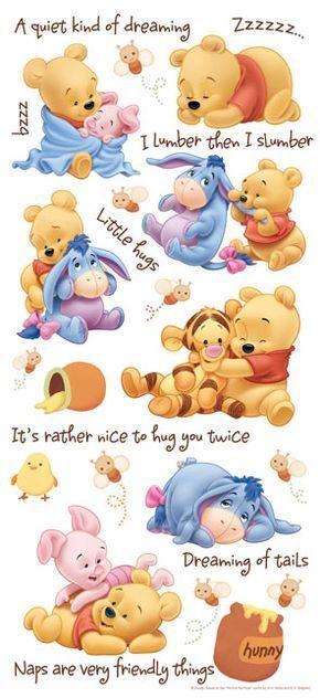 Baby Pooh Naptime Kartun Gambar Lucu Animasi