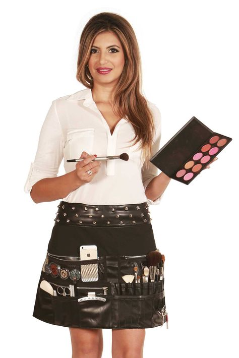 Rocker Makeup Artist Tool Belt Apron: Salon Aprons