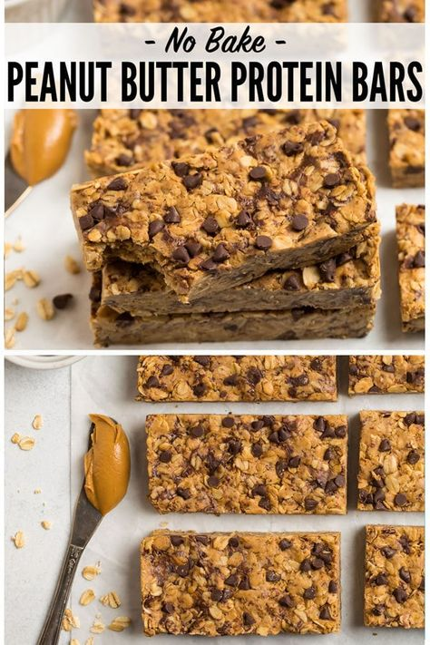 and chewy homemade Peanut Butter Protein Bars with simple ingredients like ., Soft and chewy homemade Peanut Butter Protein Bars with simple ingredients like ., Soft and chewy homemade Peanut Butter Protein Bars with simple ingredients like . Healthy Protein Snacks, Protein Bar Recipes, Gourmet Recipes, Homemade Protein Bars, Keto Protein Bars, Protein Foods, Breakfast Bars Healthy, Protein Oatmeal, Healthy Granola Bars