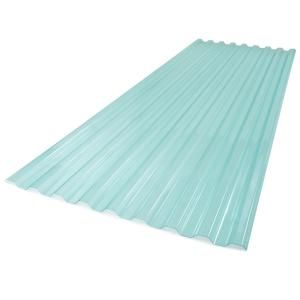 Suntuf 26 In X 6 Ft Polycarbonate Roof Panel In Sea Green 173520 The Home Depot In 2020 Polycarbonate Roof Panels Corrugated Plastic Roofing Roof Panels