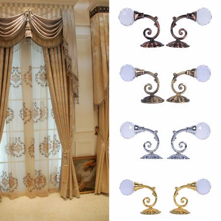 Free Shipping Buy Zerone 2x Metal Crystal Glass Curtain Hook