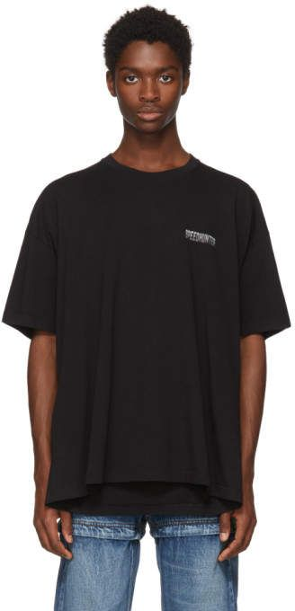 203c14896599 Balenciaga Black Speedhunter Double Hem T-Shirt | Mens Tees And Tshirts