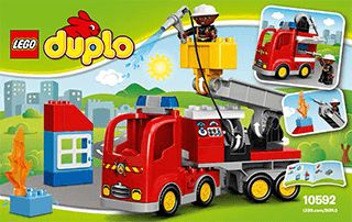 Fire Truck 10592 Lego Duplo Town Building Instructions Lego
