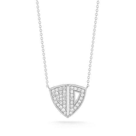 ARIA SELENE: White Gold Diamond Necklace