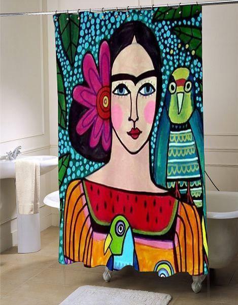 Frida Kahlo Shower Curtain Customized Design For Home Decor 2019