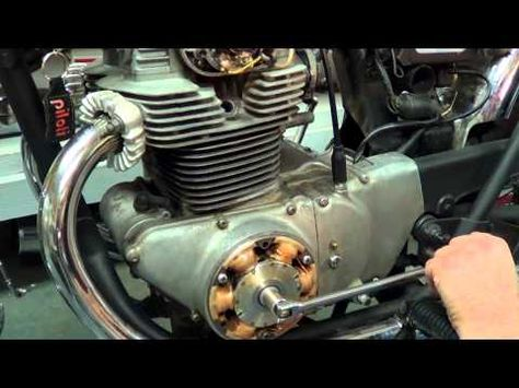 How To Set Ignition Timing Honda Cb350 Cb360 Cb450 Ignition Timing Motorcycle Repair Cb350