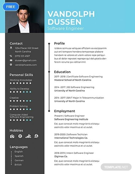 Free Resume Cv For Experienced Software Engineer Template Word Doc Psd Apple Mac Pages Civil Engineer Resume Software Engineer Engineering Resume Templates