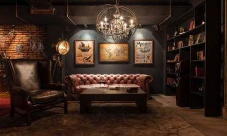 Home Office Man Cave Chesterfield 63 Ideas Gentlemans Room