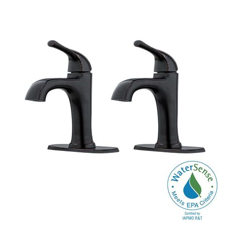 Widespread 2-Handle Bathroom Faucet in Tuscan Bronze Pfister Ladera 8 in
