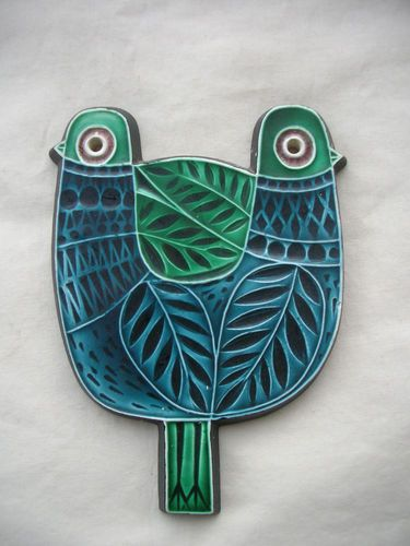 Poole Pottery Wall Plaque Birds By Robert Jefferson