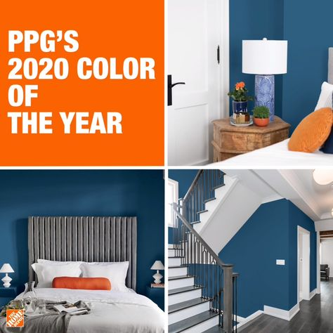 Try out PPG's new color of the year, Chinese Porcelain, at The Home Depot. The expertly selected shade is sure to bring your home a pop of color for a welcoming and calming environment. Click to shop PPG's Chinese Porcelain at The Home Depot.