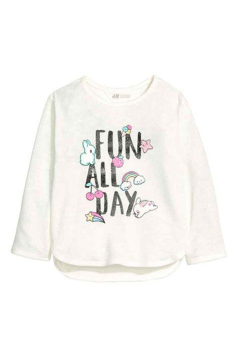 Trui Met Print.Trui Met Print Moda Ninas Shirt Embroidery H M Fashion Kids