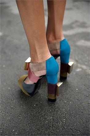 Pierre Hardy Grosgrain Sandals - Giovanna Battaglia's Closet - I Want To Be A Battaglia Stilettos, High Heels, Pumps, Crazy Shoes, Me Too Shoes, Shoe Boots, Shoes Heels, Giovanna Battaglia, Pierre Hardy