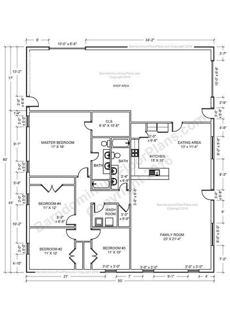 30 barndominium floor plans for different purpose | barndominium