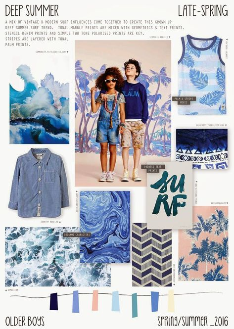 Emily Kiddy: Spring/Summer 2016 - Older Boys Fashion - Deep Summer - Surf Trend #FashionTrendsSs17