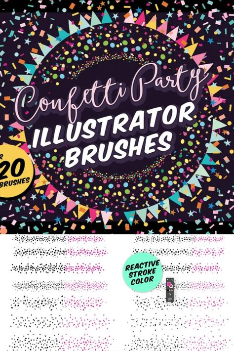Confetti Party Illustrator Brushes