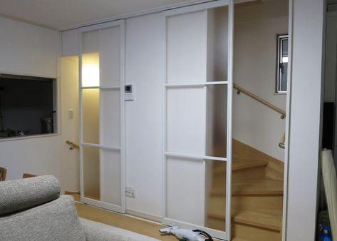 タチカワブラインド プレイスfx 引戸仕様 取付事例 リビング階段
