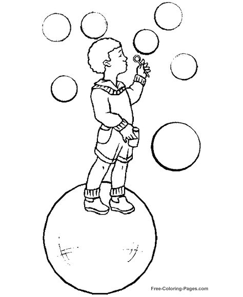 Printable Kids Coloring Page Big Bubbles Coloring Pages For