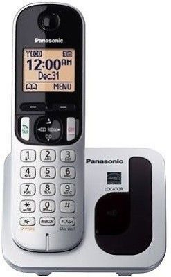 Panasonic Kx Tgc210 Cordless Landline Phone Silver Black White Phone Landline Phone Buy Phones