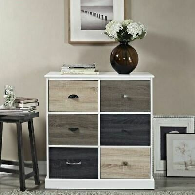 Details About White Wooden 6 Drawer Dresser Chest Drawers Clothes Storage Cabinet Door Bedroom In 2020 Dresser Drawers Clothing Storage 6 Drawer Dresser