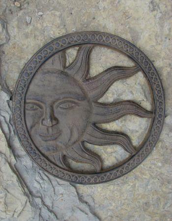 Cast Iron Sun Face Wrought Pinterest Outdoor Wall Art And Gardens