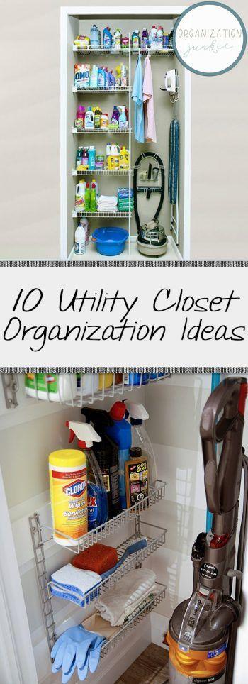 10 Utility Closet Organization Ideas Closet Closet Organization Closet Organizatio Cleaning Closet Organization Apartment Closet Organization Utility Closet