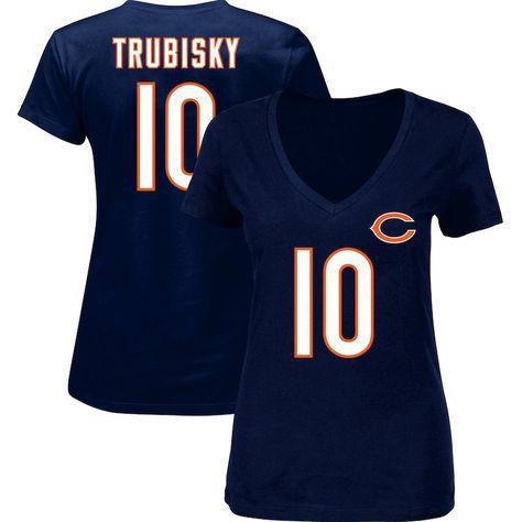 best website a2555 f0516 Mitchell Trubisky Chicago Bears Majestic Women's Plus Size ...