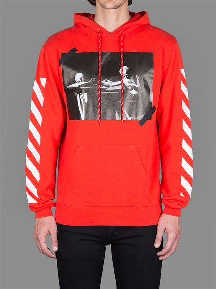 OFF-WHITE C/O VIRGIL ABLOH MEN'S EXCLUSIVE RED CARAVAGGIO T-SHIRT ...