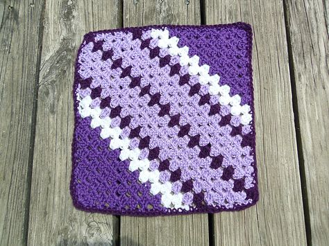 Ravelry: Project Gallery for Time Slips Away pattern by Anastacia Zittel free diagonal / sideways granny square
