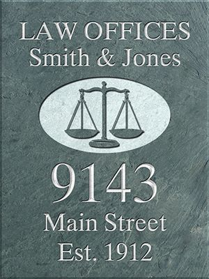 Professional Slate Signs With Symbol Wall Or Hanging Plaque