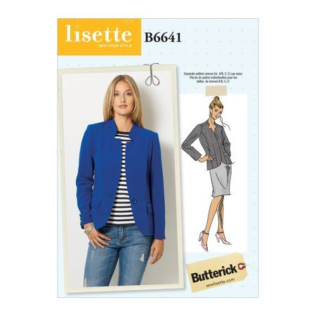 Butterick Pattern Misses' Jacket Sizes 6-8-10-12-14