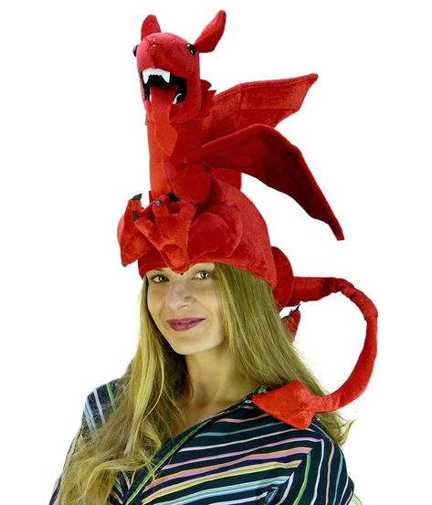 ddf58e056 Dragon Hat Dragon Costume Novelty Hats Red Dragon Hat by Funny Party Hats  -- You can get more details by clicking on the image. (This is an affiliate  link)