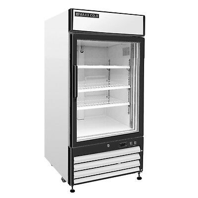 Maxx Cold Mxm1 12f Single One 1 Glass Door Commercial Merchandiser Freezer 12cf Glass Door Sliding Glass Door Commercial Refrigerators