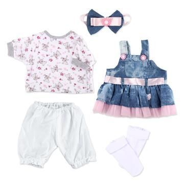 20/'/' 22/'/' Pink Reborn Doll Girl Clothes Set For Handmade Baby Doll Accessories