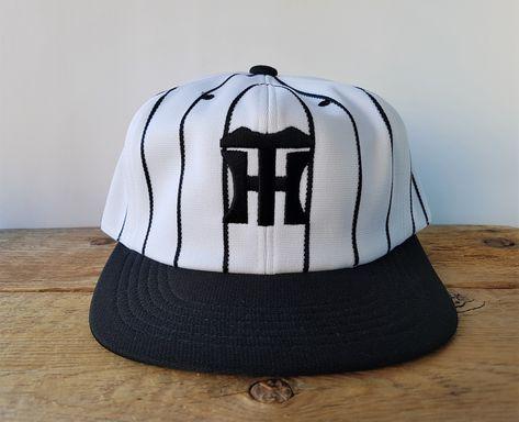 Hanshin Tigers Vintage Japanese Pinstripe Baseball Cap Nippon Pro Central League Embroidered Rare Hat Size L 56 58 Cm Official Ballcap Hanshin Tigers Baseball Cap Pinstripe