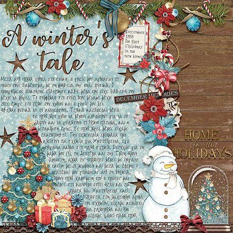 mistletoe Gorgeous layout by CTM Cindy...