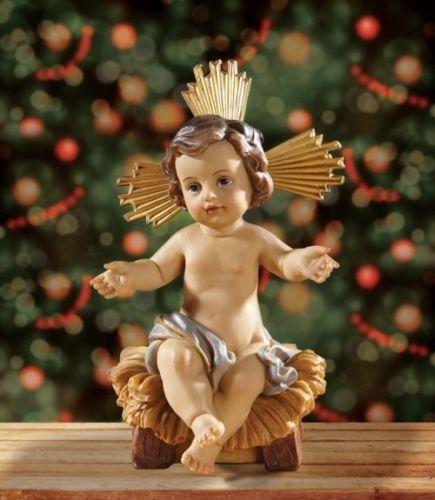 7 034 H Infant Jesus In Manger Statue Removable Advent Christmas Nativity Figurine Divine Infant Jesus Divine Infant Child Jesus