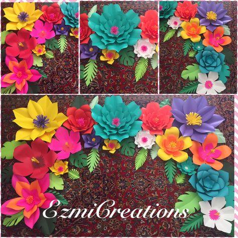 d58fa8eb1 Paper flower tropical DIY Kit