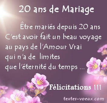 Messages Anniversaire 20 Ans Mariage Texte Felicitation Noce Porcelaine Carte Anniversaire De Mariage Noces De Porcelaine Texte Anniversaire De Mariage